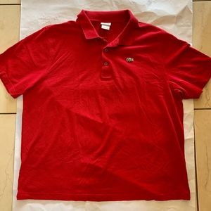 Red Lacoste Polo Size 9